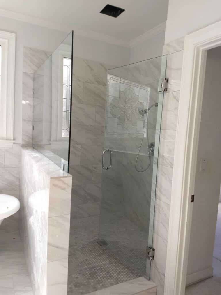 Shower Glass Panel Half Wall