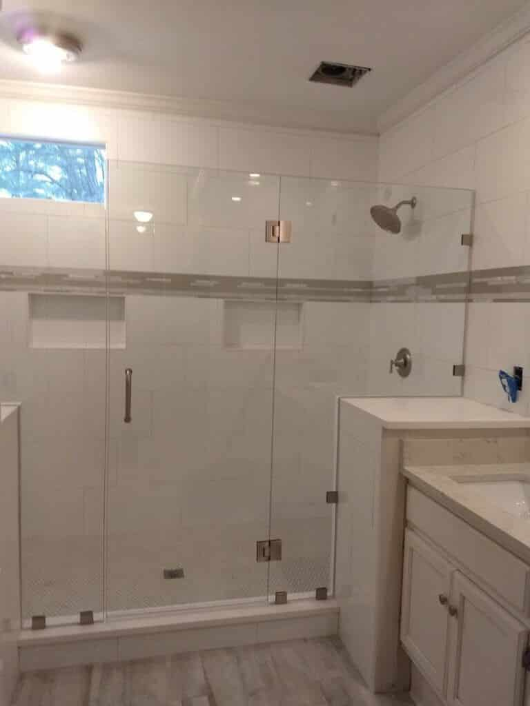 Frameless Glass Shower Panel Installation