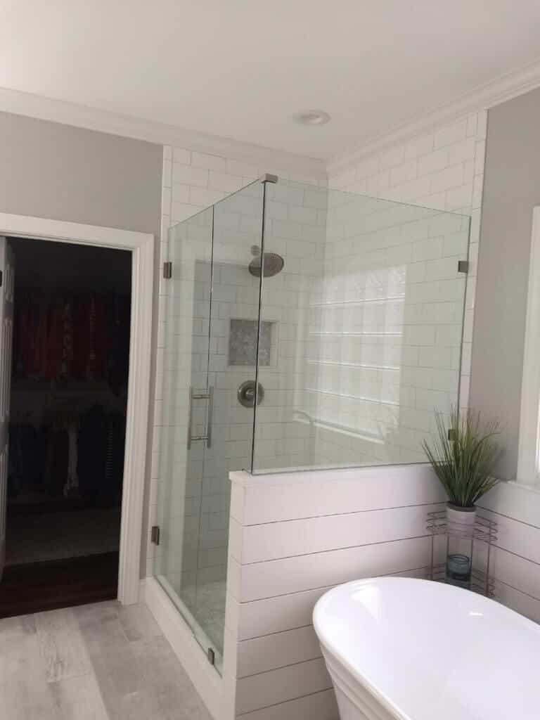 Half Wall Glass Shower Door