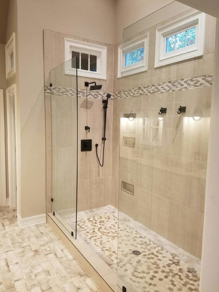 Custom Frameless Showers