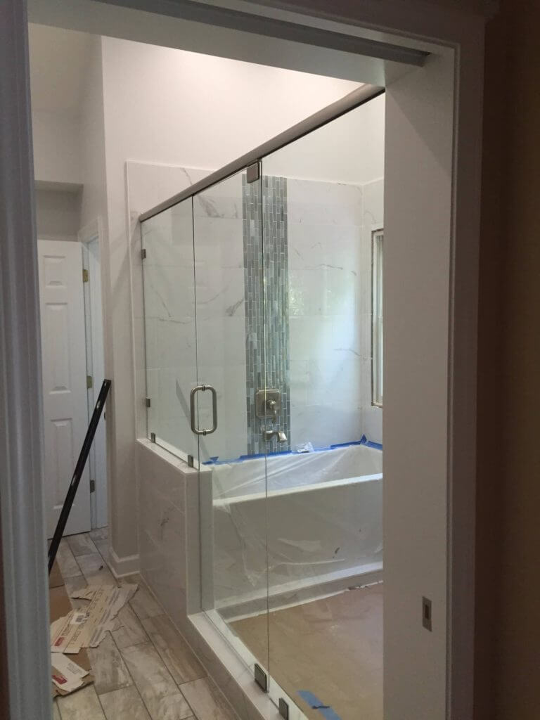 Frameless Bathtub Enclosures